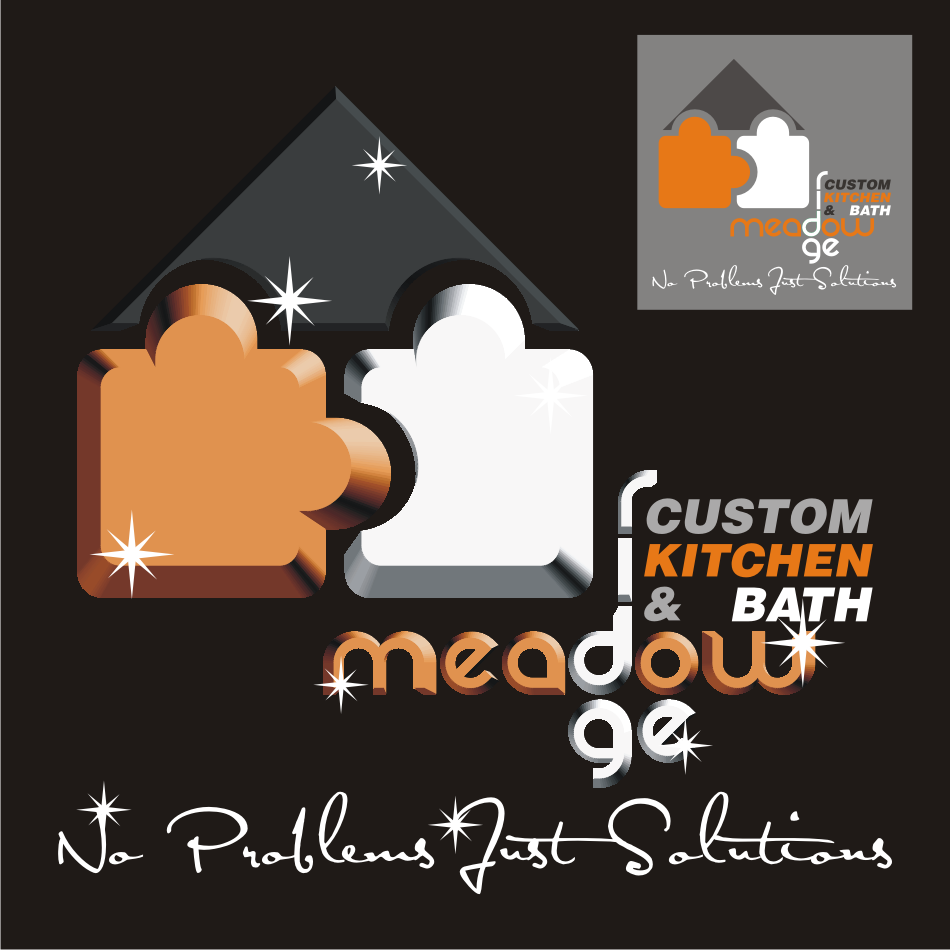 Logo Design by vector.five - Entry No. 49 in the Logo Design Contest Meadow Ridge Custom Kitchen & Bath.