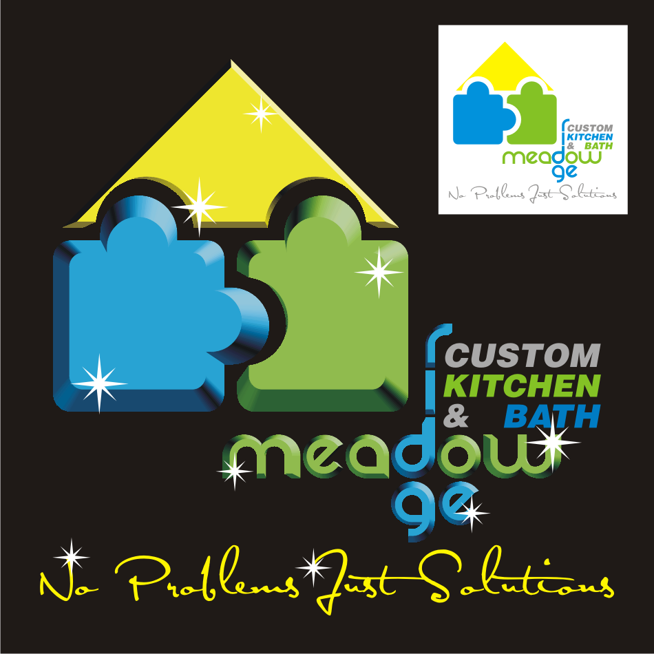 Logo Design by vector.five - Entry No. 50 in the Logo Design Contest Meadow Ridge Custom Kitchen & Bath.