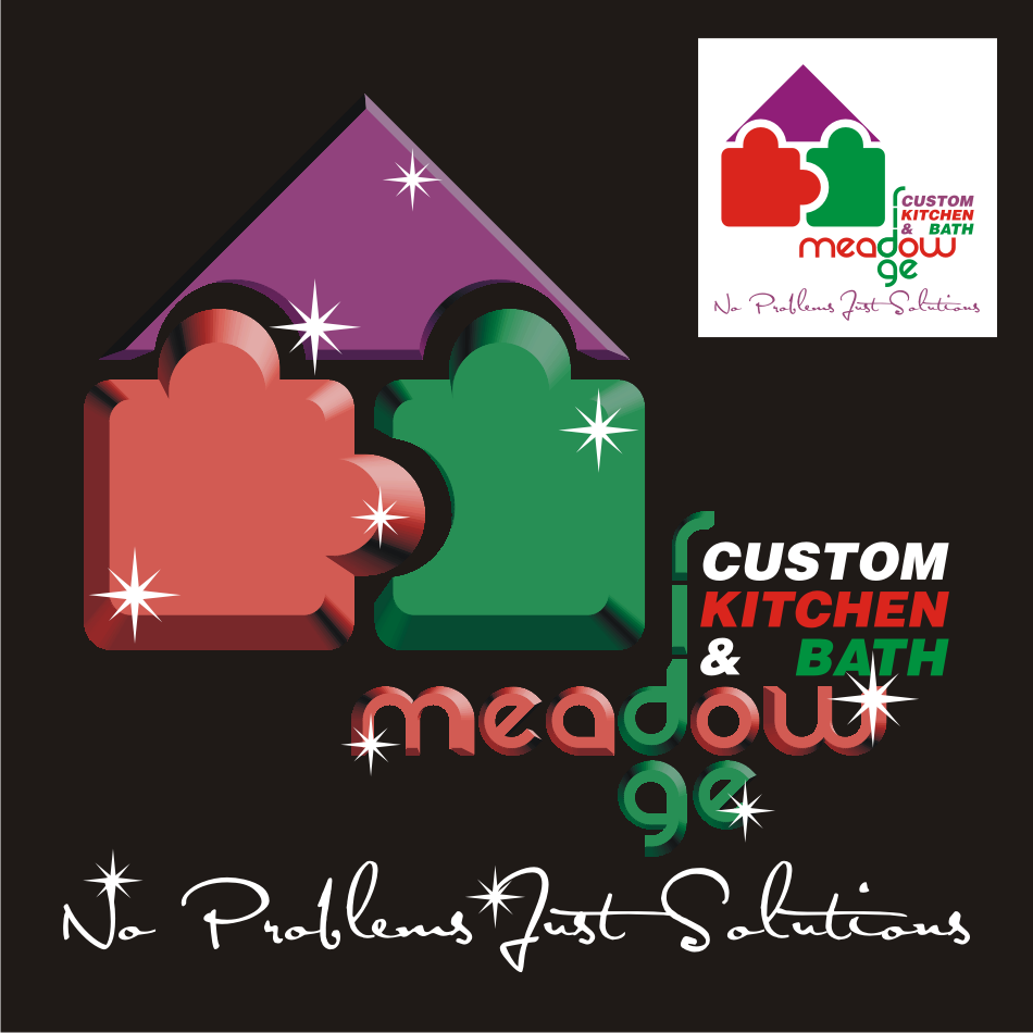 Logo Design by vector.five - Entry No. 51 in the Logo Design Contest Meadow Ridge Custom Kitchen & Bath.