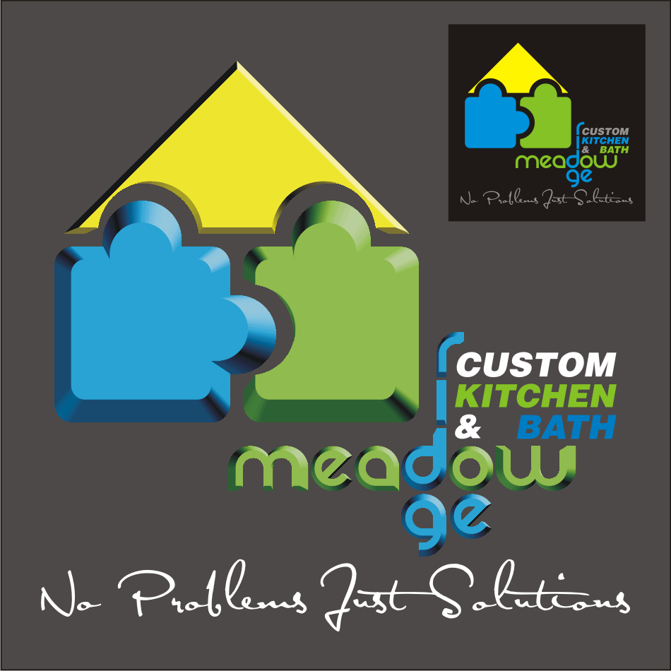 Logo Design by vector.five - Entry No. 52 in the Logo Design Contest Meadow Ridge Custom Kitchen & Bath.
