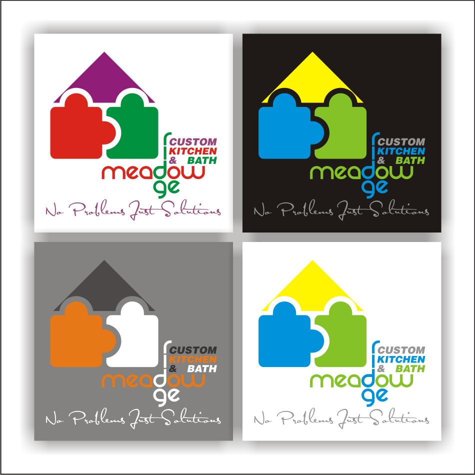 Logo Design by vector.five - Entry No. 53 in the Logo Design Contest Meadow Ridge Custom Kitchen & Bath.
