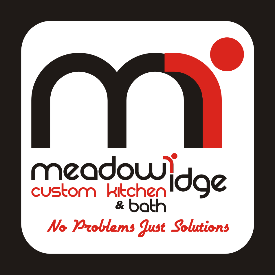 Logo Design by vector.five - Entry No. 55 in the Logo Design Contest Meadow Ridge Custom Kitchen & Bath.
