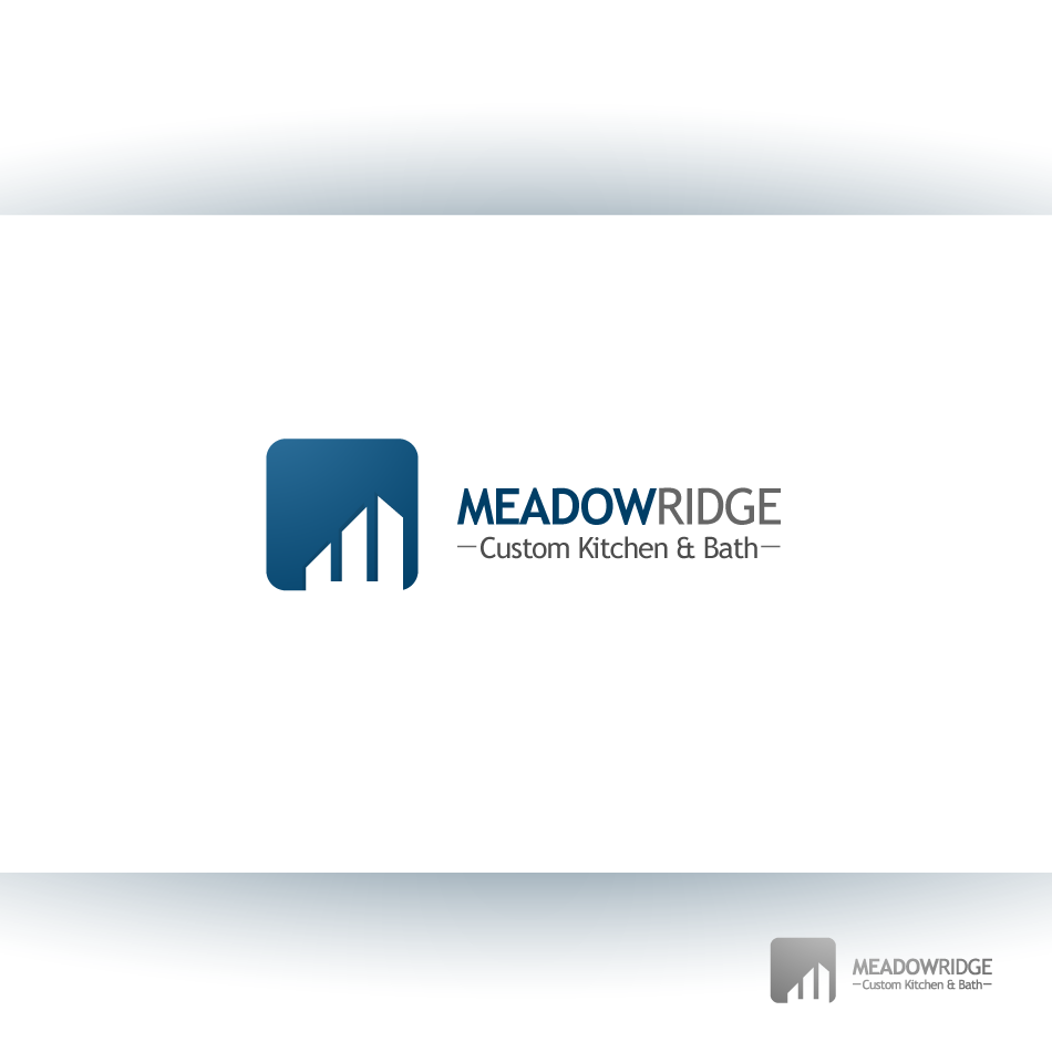 Logo Design by zesthar - Entry No. 59 in the Logo Design Contest Meadow Ridge Custom Kitchen & Bath.