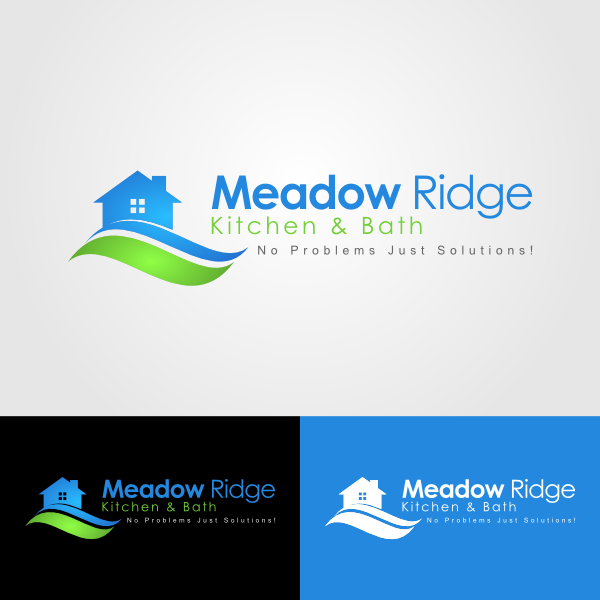 Logo Design by Andrean Susanto - Entry No. 61 in the Logo Design Contest Meadow Ridge Custom Kitchen & Bath.