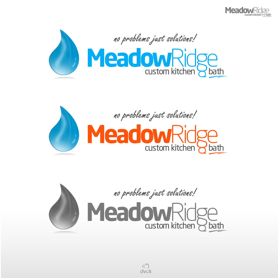 Logo Design by rockpinoy - Entry No. 65 in the Logo Design Contest Meadow Ridge Custom Kitchen & Bath.