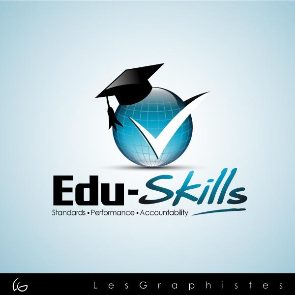 Logo Design by Les-Graphistes - Entry No. 64 in the Logo Design Contest Edu-Skills.