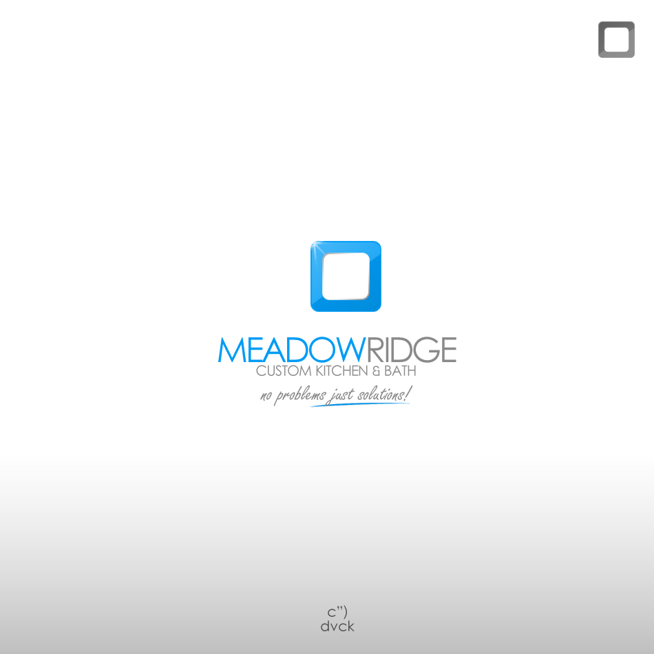 Logo Design by rockpinoy - Entry No. 68 in the Logo Design Contest Meadow Ridge Custom Kitchen & Bath.