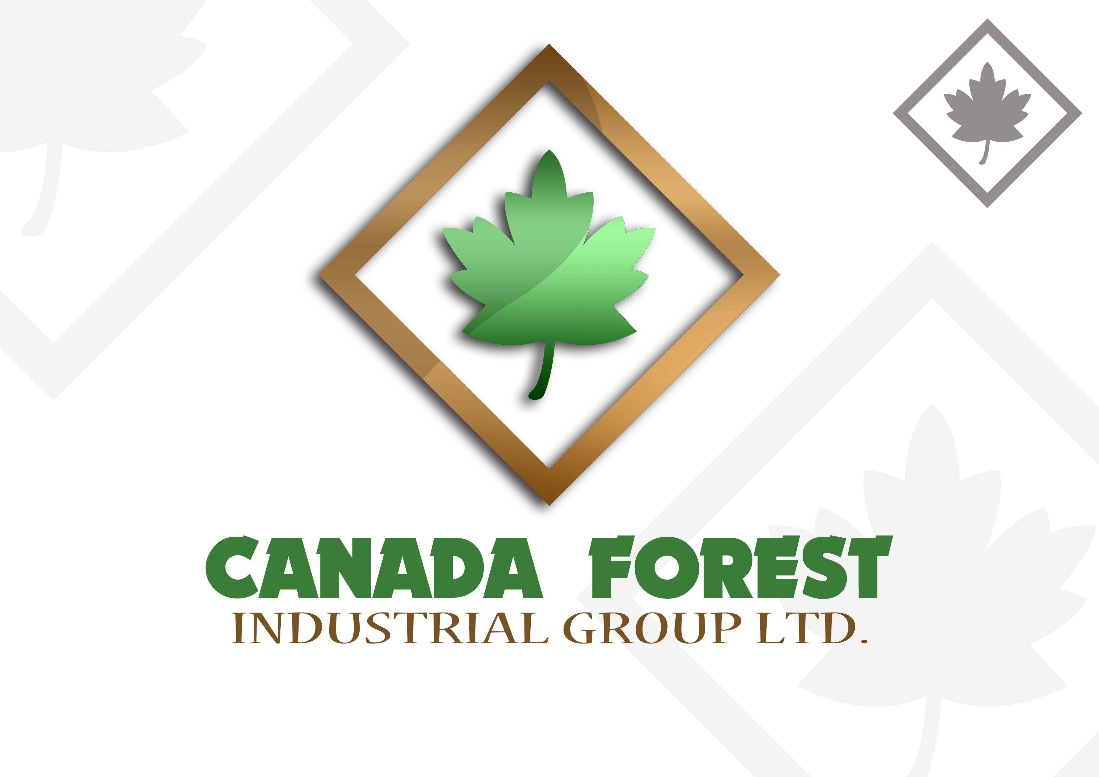 Logo Design by Jesther Jordan Minor - Entry No. 39 in the Logo Design Contest Creative Logo Design for Canada Forest Industrial Group Ltd..