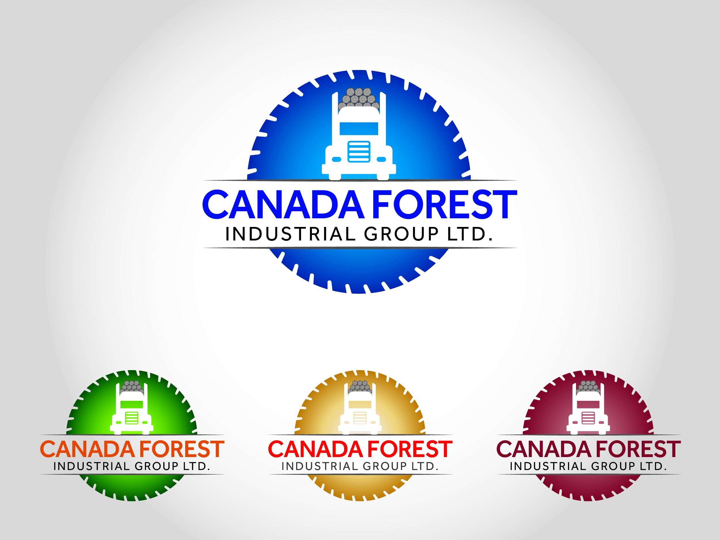 Logo Design by Shahab Uddin - Entry No. 93 in the Logo Design Contest Creative Logo Design for Canada Forest Industrial Group Ltd..