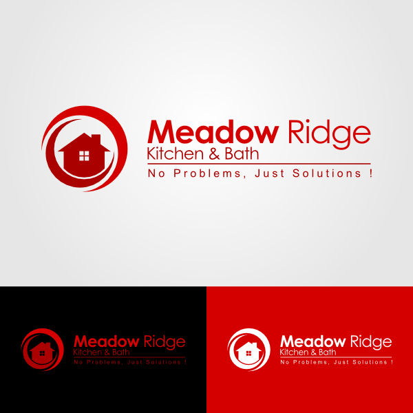 Logo Design by Andrean Susanto - Entry No. 77 in the Logo Design Contest Meadow Ridge Custom Kitchen & Bath.