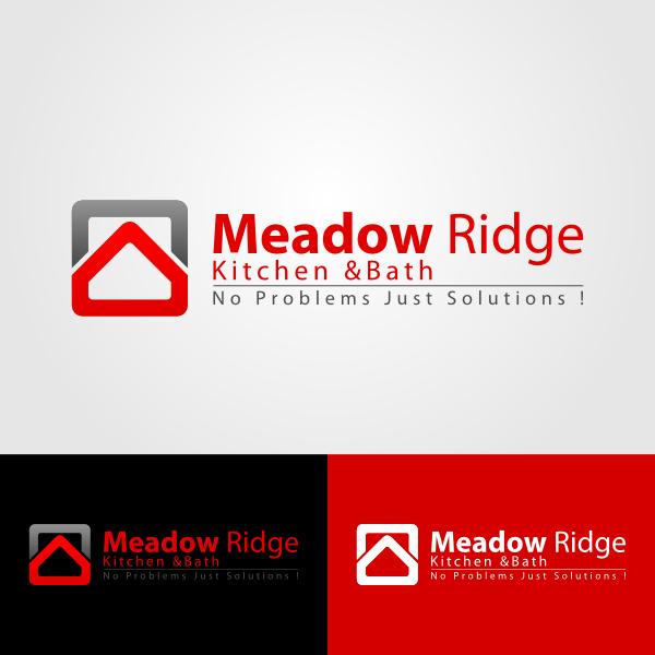 Logo Design by Andrean Susanto - Entry No. 79 in the Logo Design Contest Meadow Ridge Custom Kitchen & Bath.