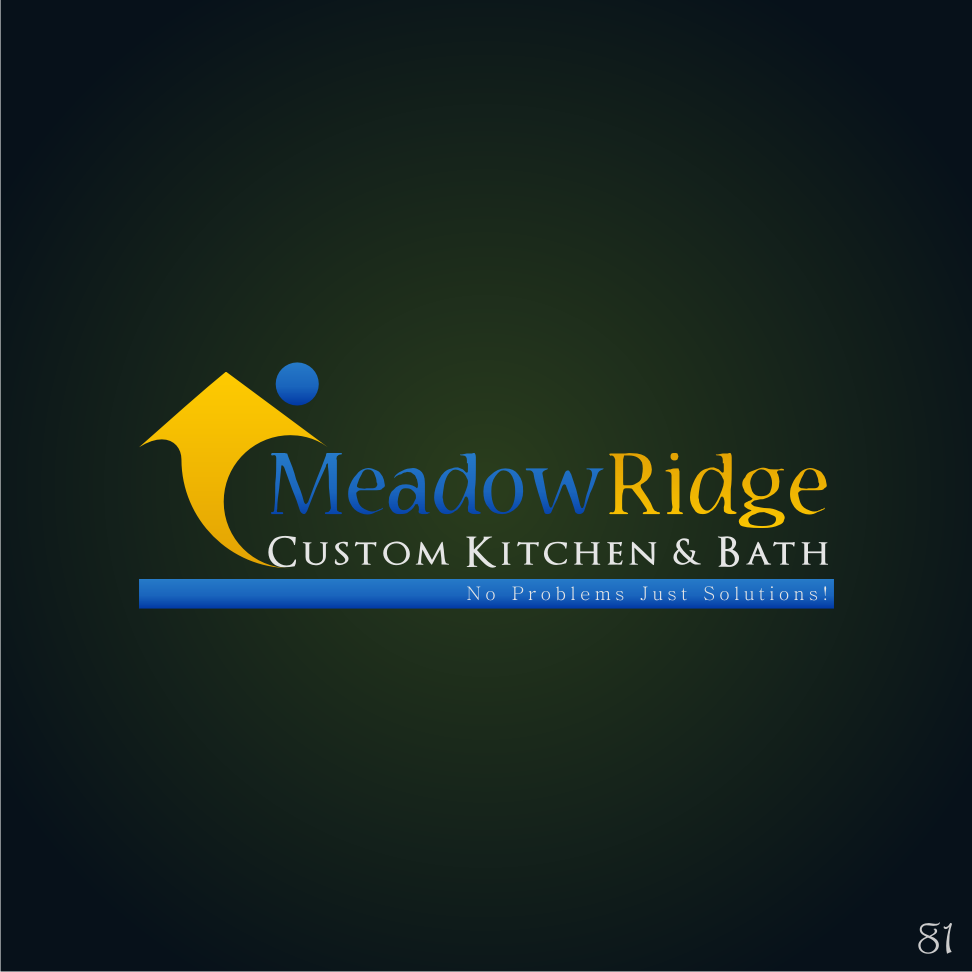 Logo Design by 81 - Entry No. 80 in the Logo Design Contest Meadow Ridge Custom Kitchen & Bath.