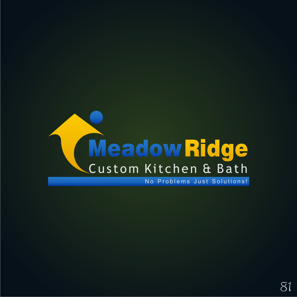 Logo Design by 81 - Entry No. 81 in the Logo Design Contest Meadow Ridge Custom Kitchen & Bath.