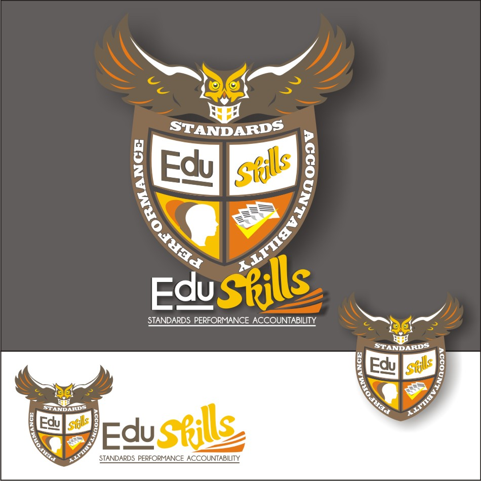Logo Design by vector.five - Entry No. 99 in the Logo Design Contest Edu-Skills.