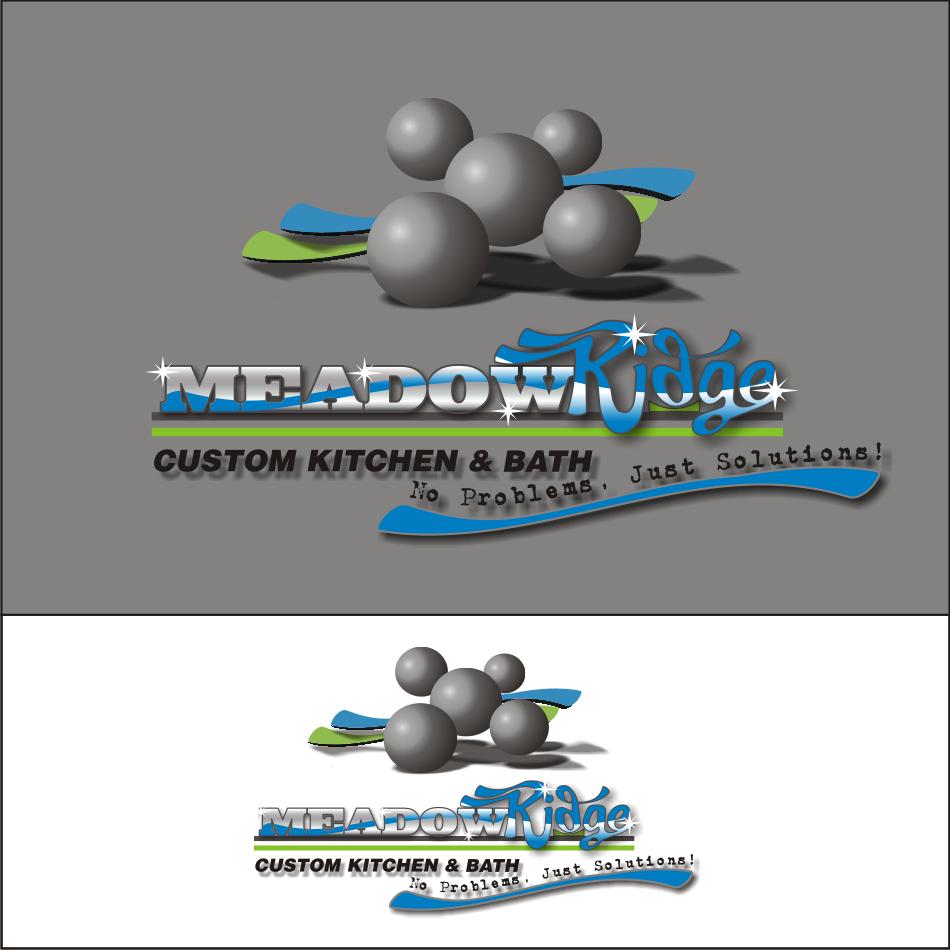 Logo Design by vector.five - Entry No. 82 in the Logo Design Contest Meadow Ridge Custom Kitchen & Bath.