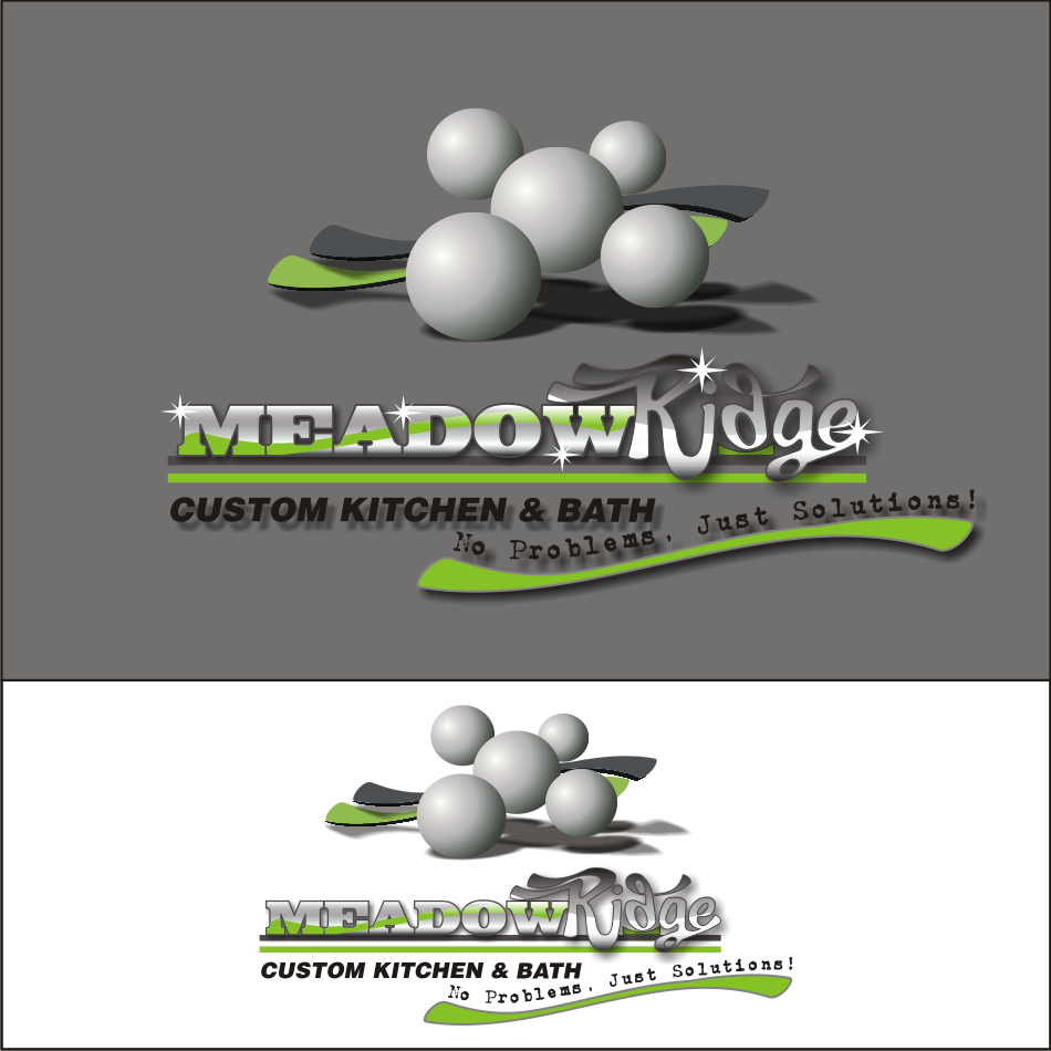Logo Design by vector.five - Entry No. 83 in the Logo Design Contest Meadow Ridge Custom Kitchen & Bath.