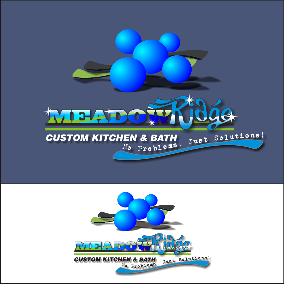 Logo Design by vector.five - Entry No. 84 in the Logo Design Contest Meadow Ridge Custom Kitchen & Bath.