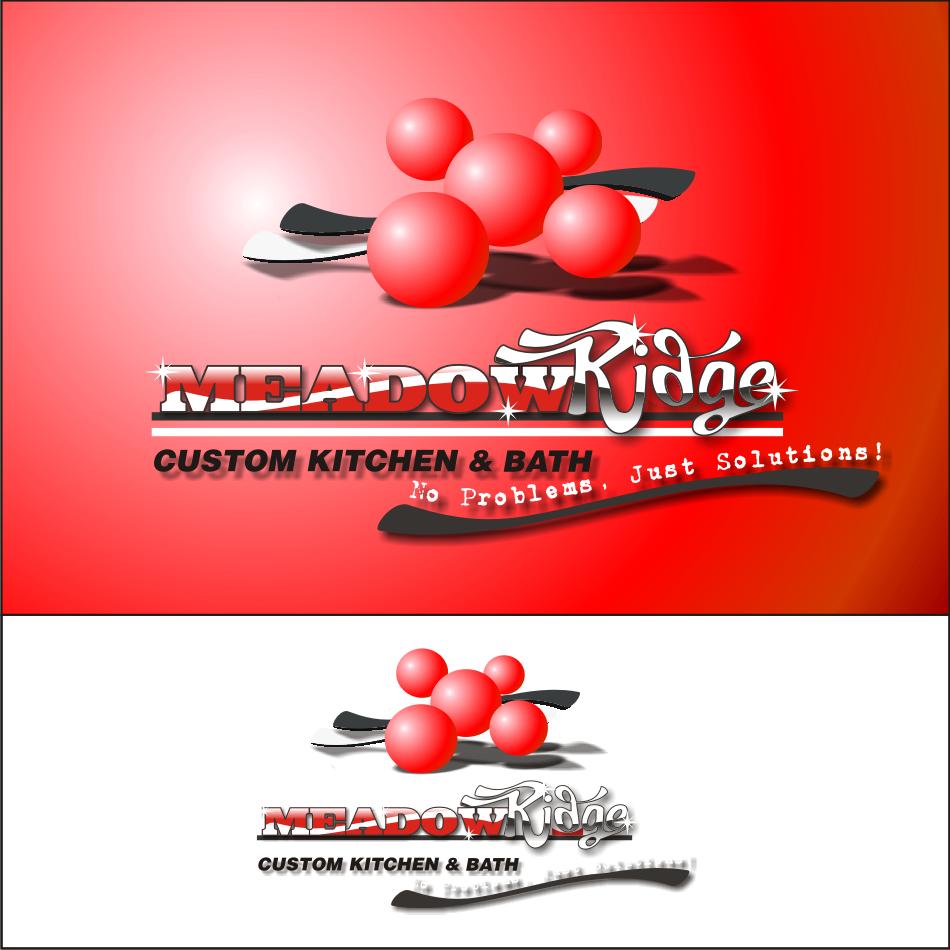 Logo Design by vector.five - Entry No. 85 in the Logo Design Contest Meadow Ridge Custom Kitchen & Bath.