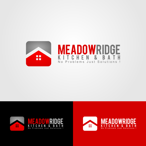 Logo Design by Andrean Susanto - Entry No. 86 in the Logo Design Contest Meadow Ridge Custom Kitchen & Bath.