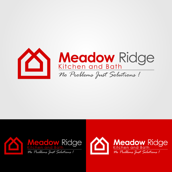 Logo Design by Andrean Susanto - Entry No. 87 in the Logo Design Contest Meadow Ridge Custom Kitchen & Bath.