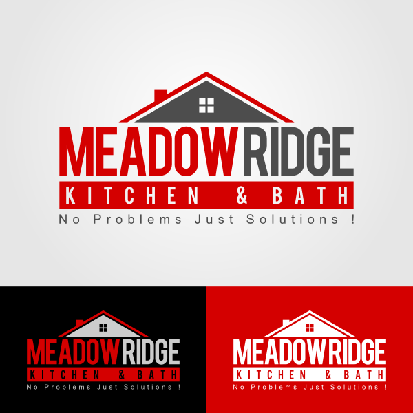 Logo Design by Andrean Susanto - Entry No. 88 in the Logo Design Contest Meadow Ridge Custom Kitchen & Bath.