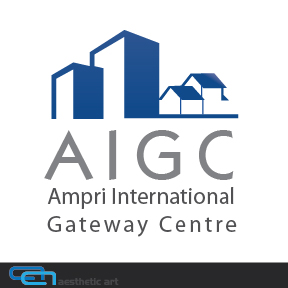 Logo Design by aesthetic-art - Entry No. 48 in the Logo Design Contest Ampri International Gateway Centre (AIGC).