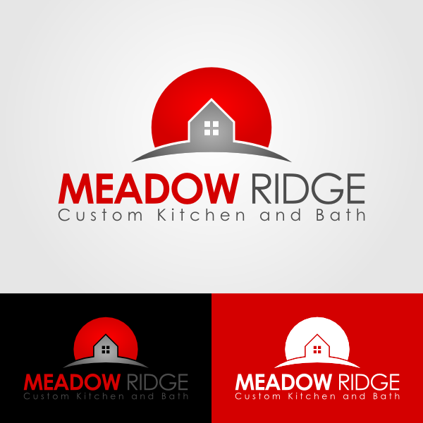 Logo Design by Andrean Susanto - Entry No. 90 in the Logo Design Contest Meadow Ridge Custom Kitchen & Bath.