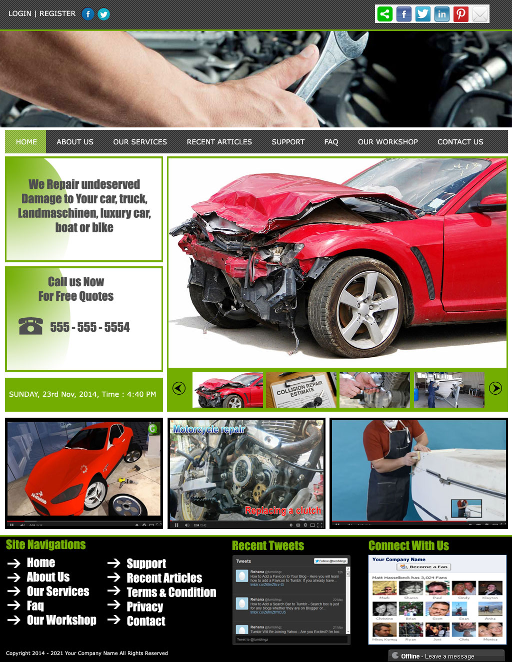 Web Page Design by Sandip Kumar Pandey - Entry No. 9 in the Web Page Design Contest Inspiring Web Page Design for New website for my car borodio.