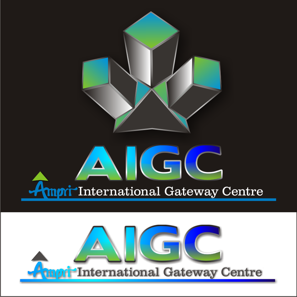 Logo Design by vector.five - Entry No. 52 in the Logo Design Contest Ampri International Gateway Centre (AIGC).