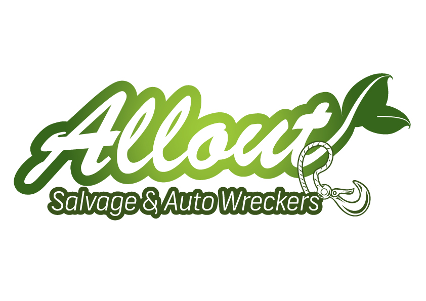 Logo Design by Private User - Entry No. 19 in the Logo Design Contest Inspiring Logo Design for Allout Salvage & Auto Wreckers.