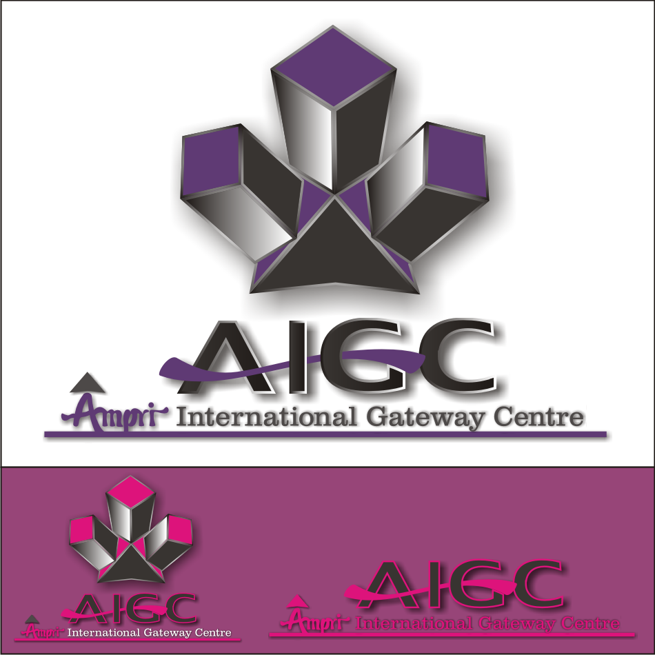 Logo Design by vector.five - Entry No. 56 in the Logo Design Contest Ampri International Gateway Centre (AIGC).