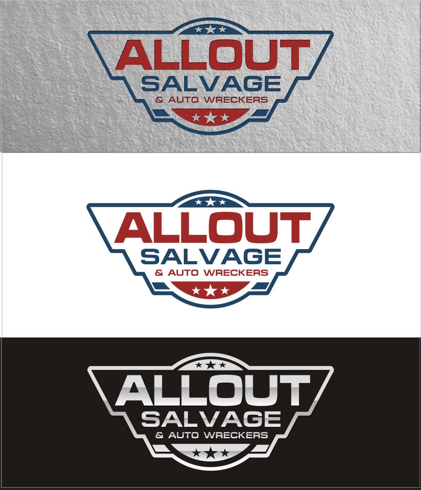 Logo Design by RasYa Muhammad Athaya - Entry No. 24 in the Logo Design Contest Inspiring Logo Design for Allout Salvage & Auto Wreckers.