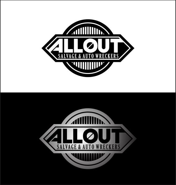 Logo Design by Armada Jamaluddin - Entry No. 30 in the Logo Design Contest Inspiring Logo Design for Allout Salvage & Auto Wreckers.