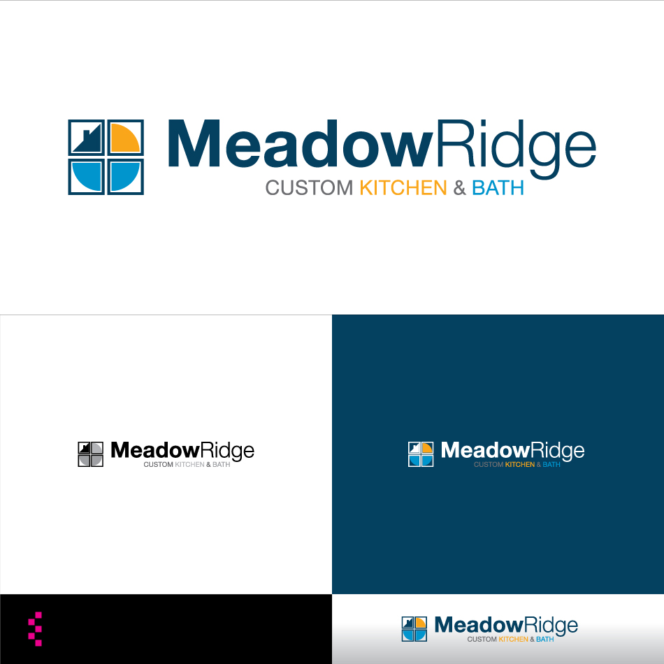 Logo Design by elemts2103 - Entry No. 96 in the Logo Design Contest Meadow Ridge Custom Kitchen & Bath.