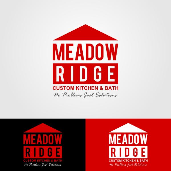 Logo Design by Andrean Susanto - Entry No. 98 in the Logo Design Contest Meadow Ridge Custom Kitchen & Bath.