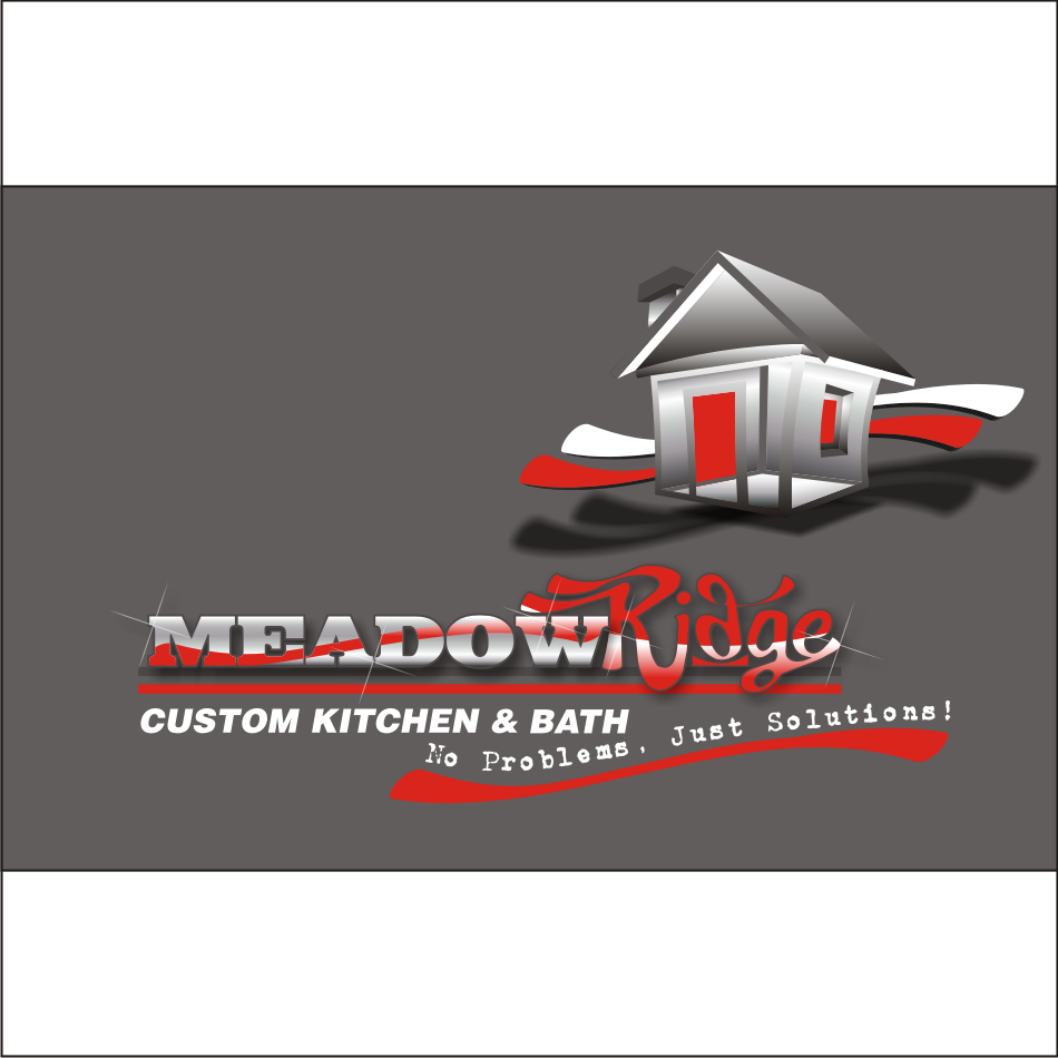 Logo Design by vector.five - Entry No. 100 in the Logo Design Contest Meadow Ridge Custom Kitchen & Bath.