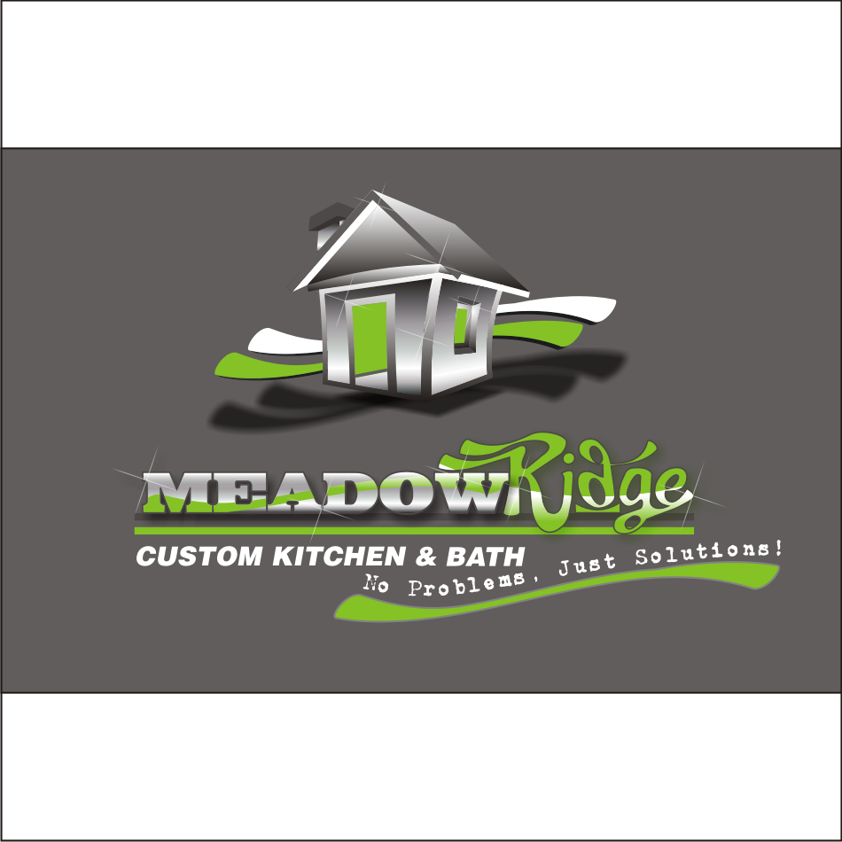 Logo Design by vector.five - Entry No. 101 in the Logo Design Contest Meadow Ridge Custom Kitchen & Bath.