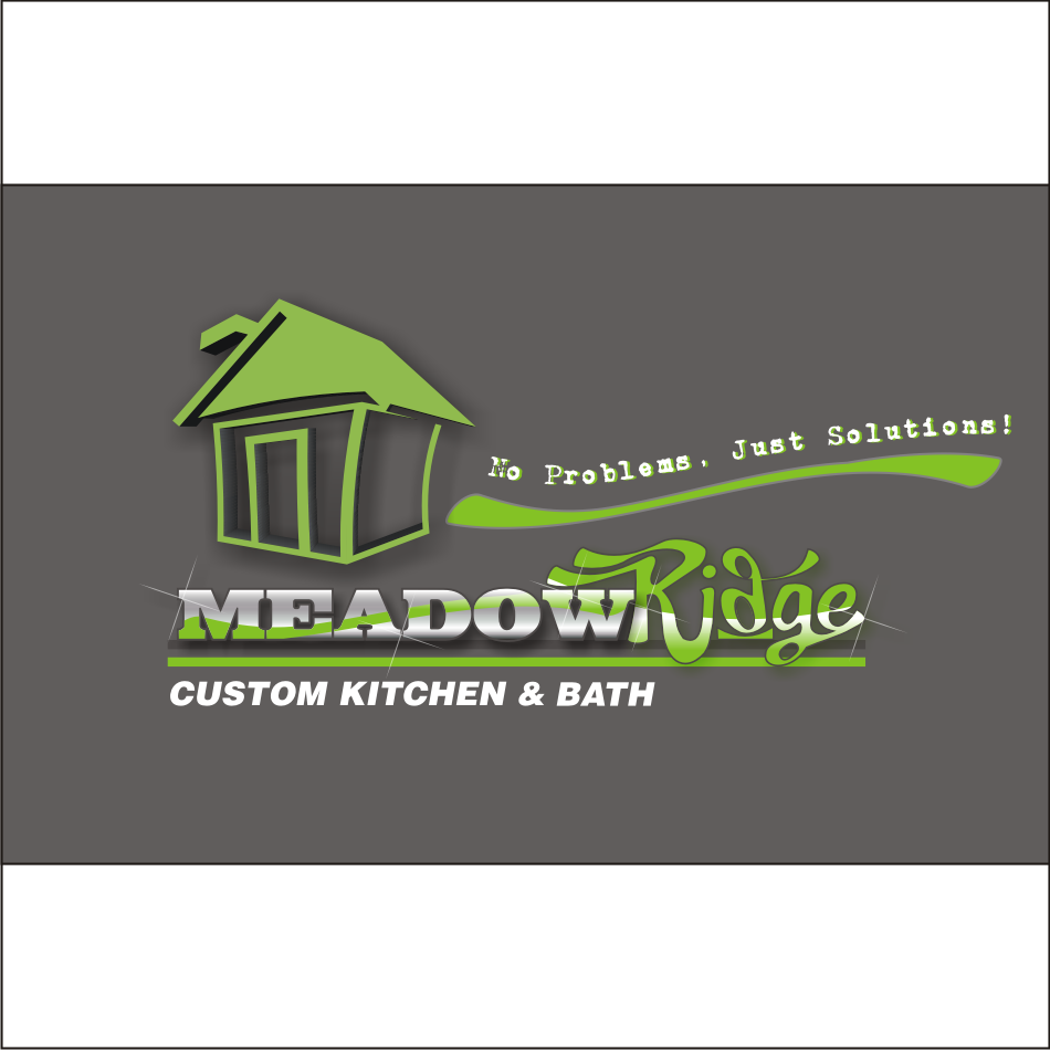 Logo Design by vector.five - Entry No. 102 in the Logo Design Contest Meadow Ridge Custom Kitchen & Bath.