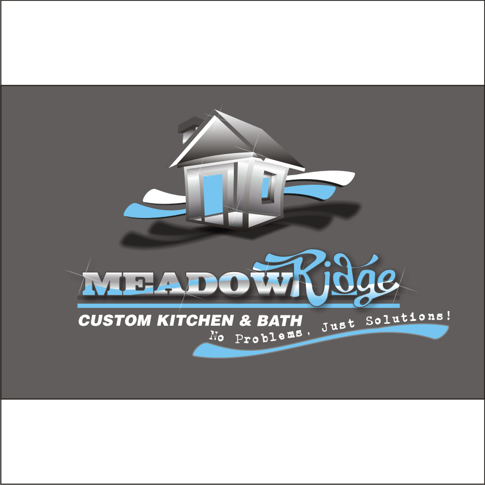 Logo Design by vector.five - Entry No. 103 in the Logo Design Contest Meadow Ridge Custom Kitchen & Bath.