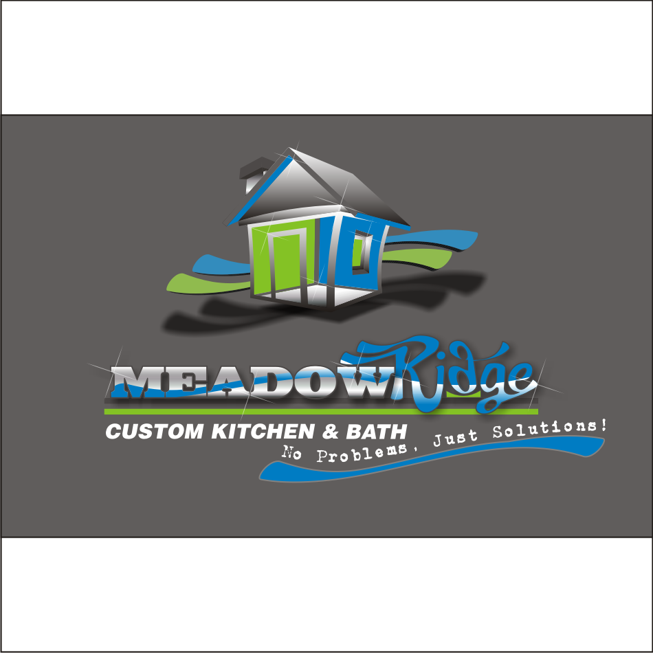 Logo Design by vector.five - Entry No. 104 in the Logo Design Contest Meadow Ridge Custom Kitchen & Bath.