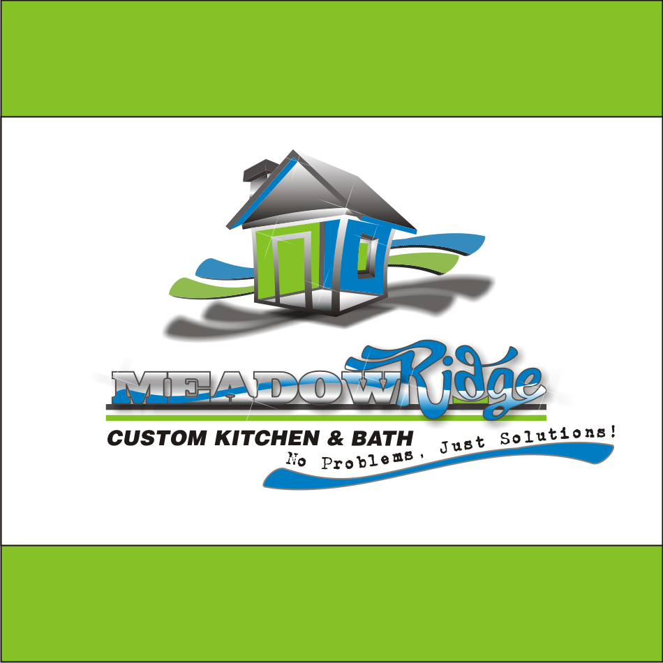 Logo Design by vector.five - Entry No. 105 in the Logo Design Contest Meadow Ridge Custom Kitchen & Bath.