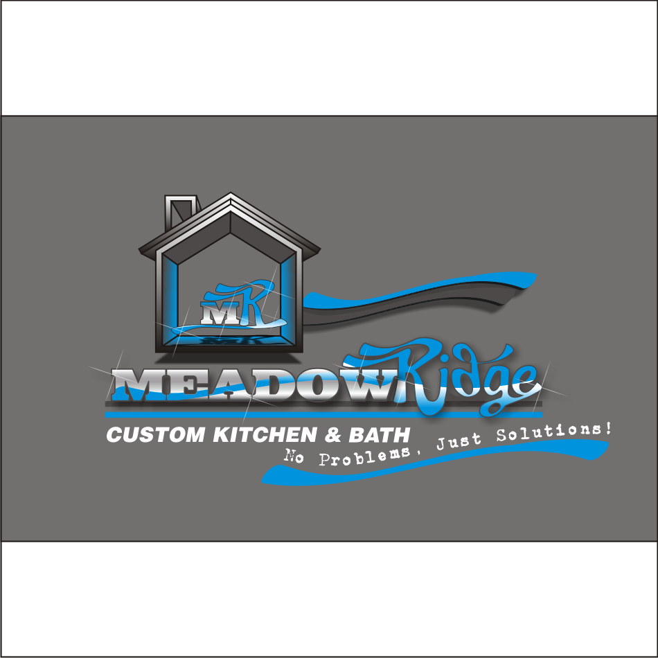 Logo Design by vector.five - Entry No. 106 in the Logo Design Contest Meadow Ridge Custom Kitchen & Bath.