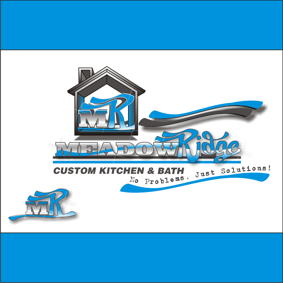 Logo Design by vector.five - Entry No. 107 in the Logo Design Contest Meadow Ridge Custom Kitchen & Bath.