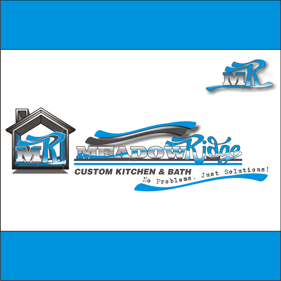 Logo Design by vector.five - Entry No. 108 in the Logo Design Contest Meadow Ridge Custom Kitchen & Bath.