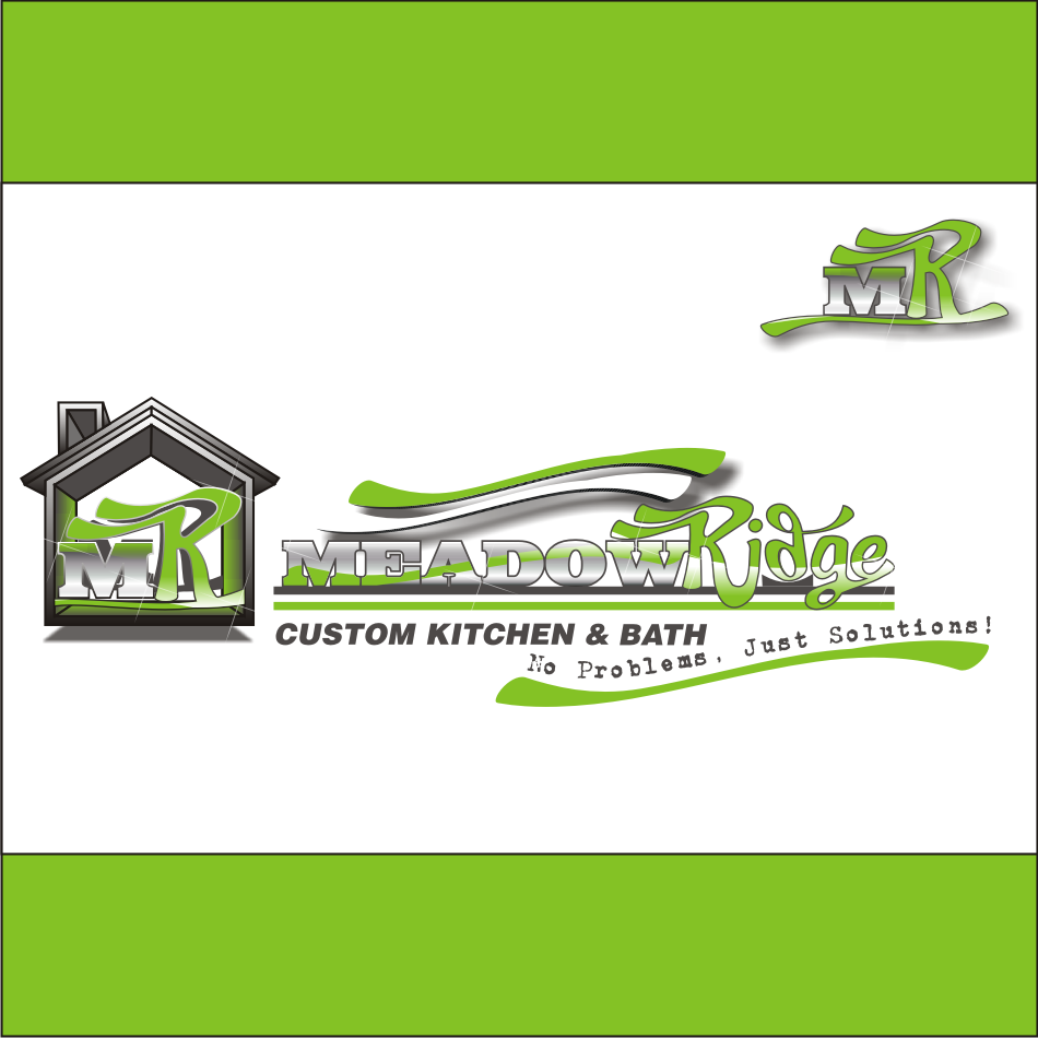Logo Design by vector.five - Entry No. 109 in the Logo Design Contest Meadow Ridge Custom Kitchen & Bath.