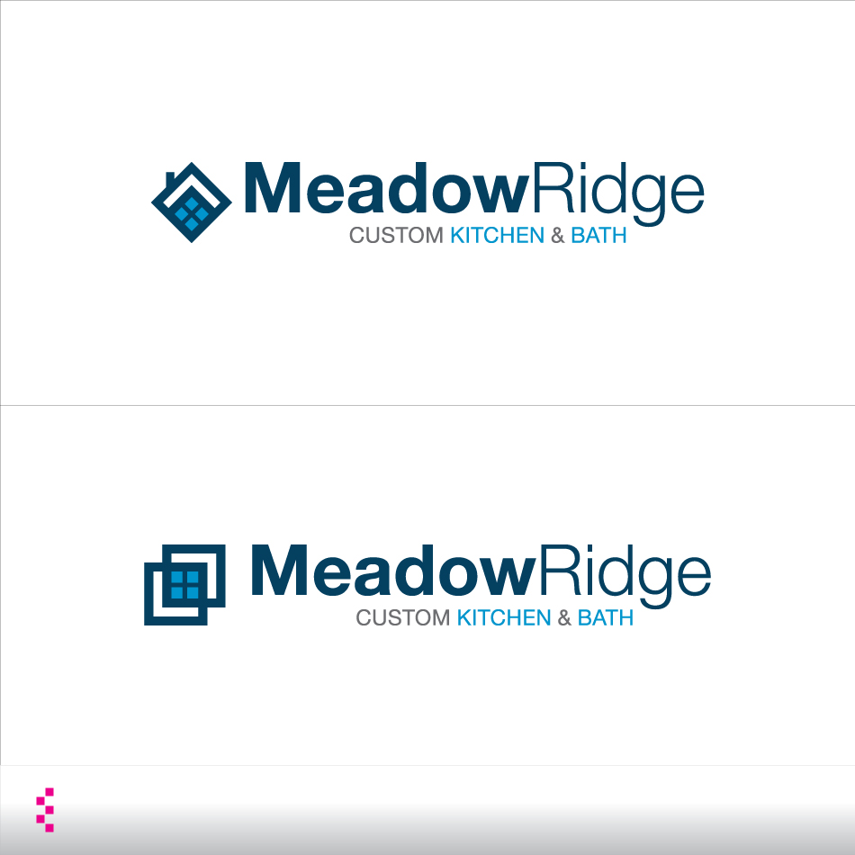 Logo Design by elemts2103 - Entry No. 111 in the Logo Design Contest Meadow Ridge Custom Kitchen & Bath.