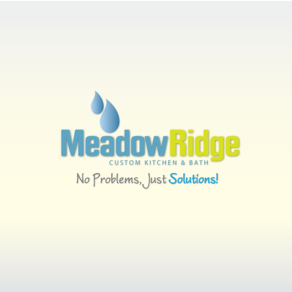 Logo Design by moonflower - Entry No. 118 in the Logo Design Contest Meadow Ridge Custom Kitchen & Bath.