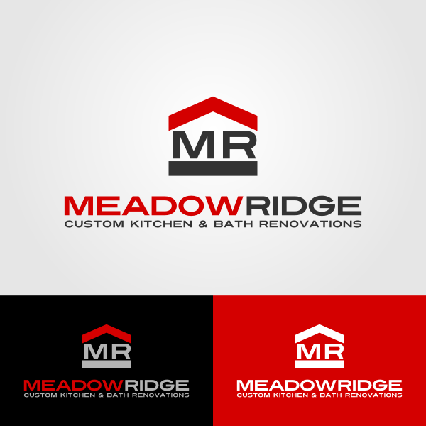 Logo Design by Andrean Susanto - Entry No. 119 in the Logo Design Contest Meadow Ridge Custom Kitchen & Bath.
