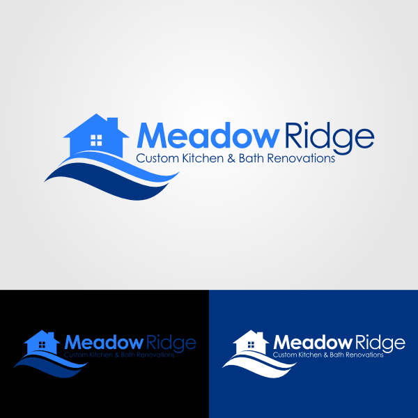 Logo Design by Andrean Susanto - Entry No. 120 in the Logo Design Contest Meadow Ridge Custom Kitchen & Bath.