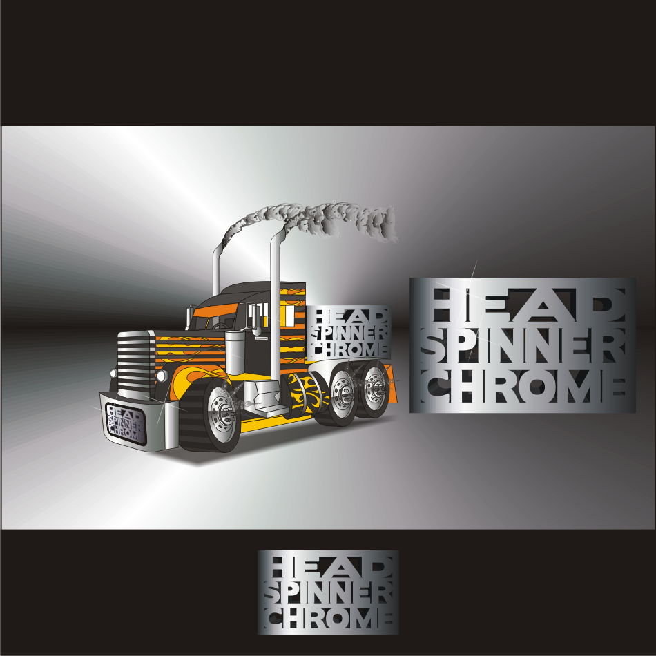Logo Design by vector.five - Entry No. 7 in the Logo Design Contest Head Spinner Chrome.